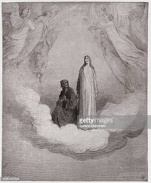 The Divine Comedy Paradiso Canto 21 Blessed Beatrice in the seventh circle by Dante Alighieri Engraving by Gustave Dore 1885