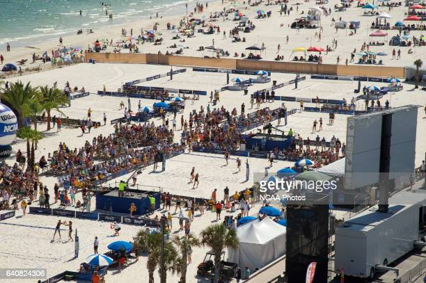 The Division I Women's Beach Volleyball Championship takes place at the Beach at Gulf Shores in Gulf Shores, AL. Jamie Schwaberow/NCAA Photos via...