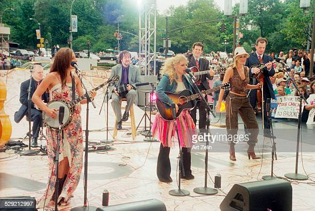 The Dixie Chicks in performance Marie Maguire Natalie Maines Emily Robinson circa 1990 New York