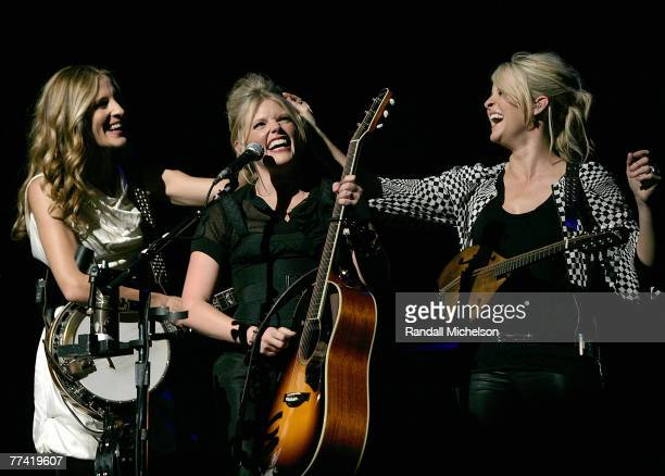 The Dixie Chicks performing onstage at the new Nokia Theater on October 18 2007 in Los Angeles