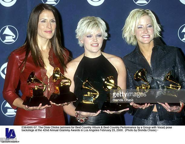 The Dixie Chicks pose backstage at the 42nd Annual Grammy Awards in Los Angeles February 23 2000