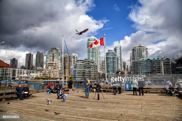 Le quai à Granville Island, Vancouver, Canada