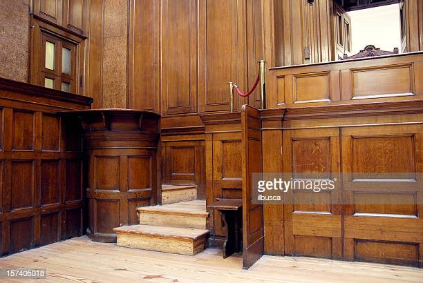 the dock in courtroom - courtroom stock pictures, royalty-free photos & images