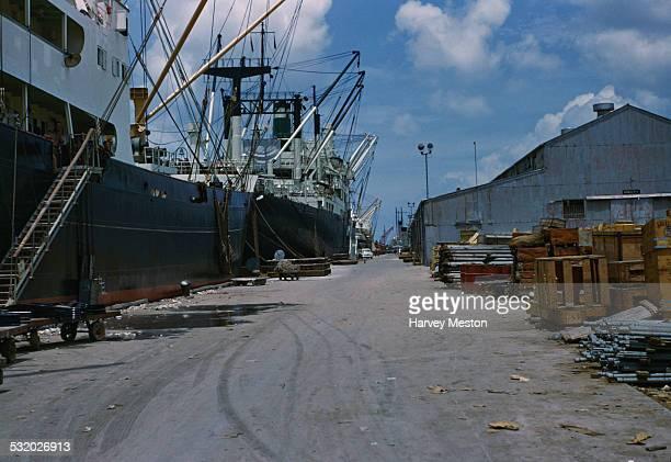 The docks in Barranquilla Colombia South America circa 1965