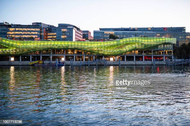 the docks paris with the city of fashion and design, paris, france - performing arts center stock pictures, royalty-free photos & images