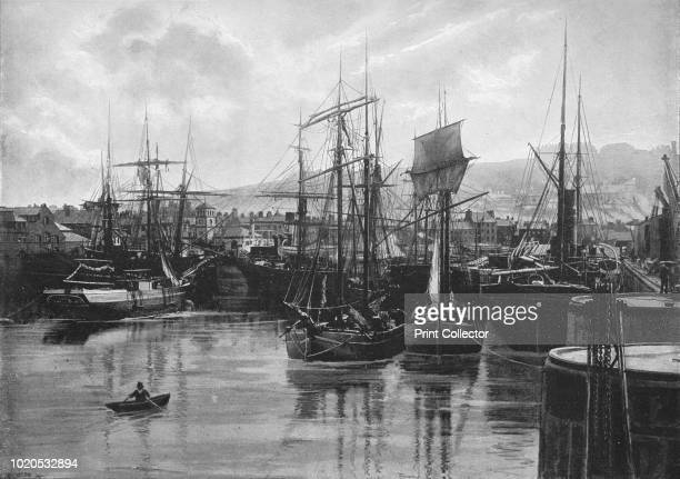 The Docks, Whitehaven', circa 1896. From Pictorial England and Wales. [Cassell and Company, Limited, London, Paris & Melbourne, circa 1896]. Artist...