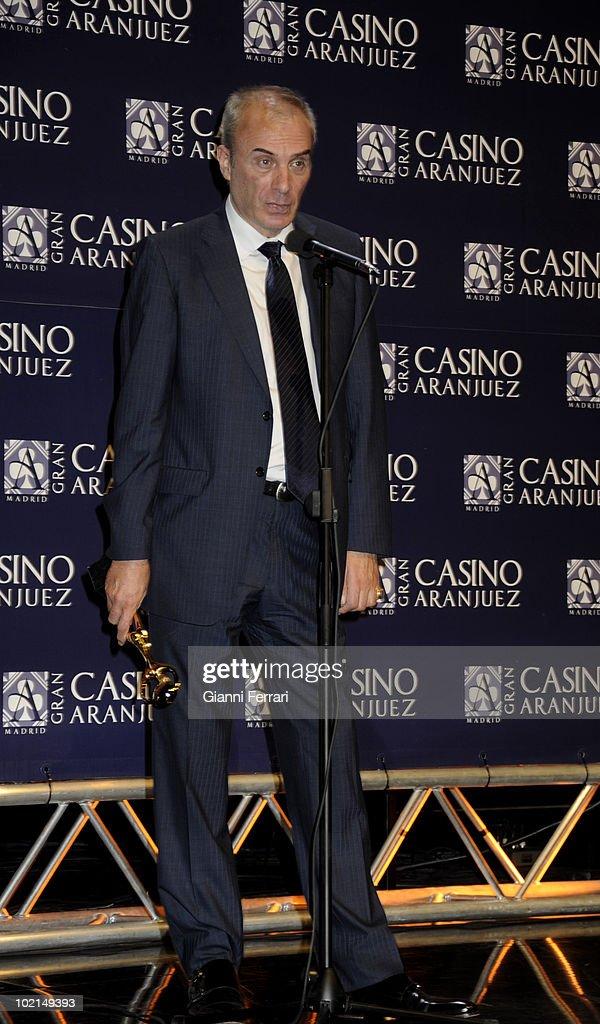 The doctor Jesus Neira, winner of the award 'Golden Antenna', 27th September 2009, 'Gran Casino de Aranjuez', Aranjuez, Madrid.