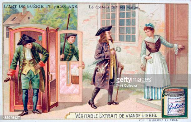 The doctor makes his visits c1900 French advertising for Liebig Extract of Meat Private Collection