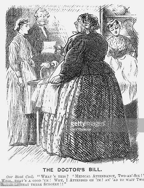 The Doctors Bill 1869 This Cartoon Harks Back To The Days When A