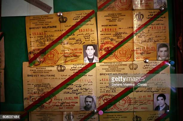 The documents of the Moroccan Army soldiers captured by Sahrawi in the Saharawi refugee camp Rabouni on December 3 2009 in Tindouf Algeria The Museum...
