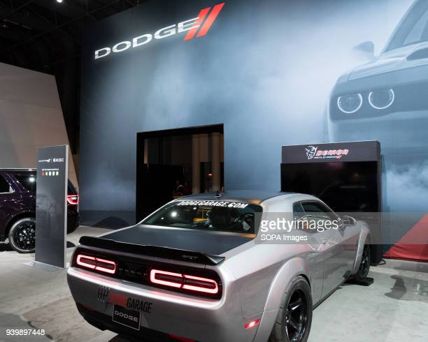 The Dodge Challenger at the New York International Auto Show in New York City The New York International Motor Show is being hosted in the Jacob...