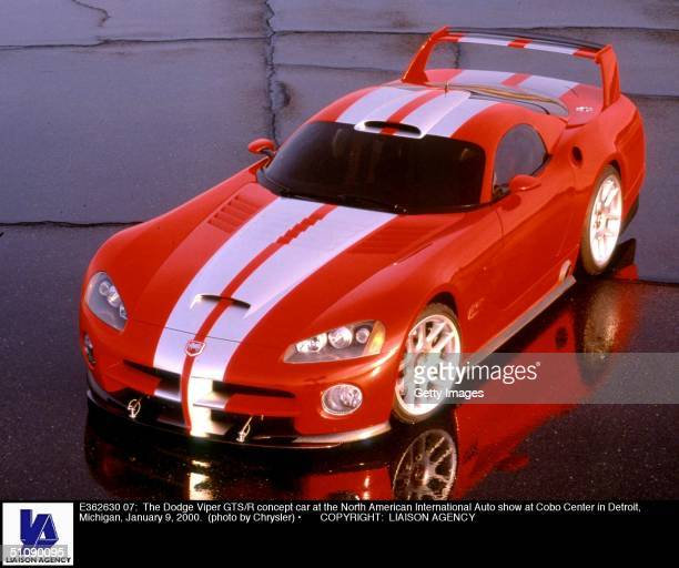 The Dodge Viper Gts/R Concept Car At The North American International Auto Show At Cobo Center In Detroit Michigan January 9 2000