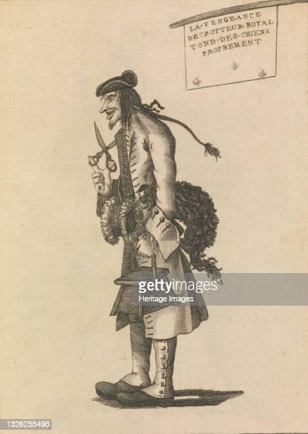 The Dog Barber, April 25, 1771. Artist Unknown.