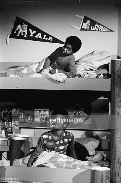 RENT STROKES The Dog Story Episode 15 Pictured Todd Bridges as Willis Jackson Gary Coleman as Arnold Jackson Photo by Ron Tom/NBC/NBCU Photo Bank