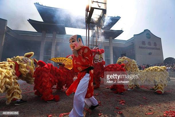 The Doi Mua Lan Hung Dao Lion Dance Team from Huntington Beach perform as the Asian Garden Mall welcomes in the New Year of the Goat with a large...