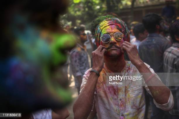 The Dol Purnima was celebrated on Thursday 21 March 2019 across Bangladesh with due religious favors and befitting manners photo has taken from Dhaka...