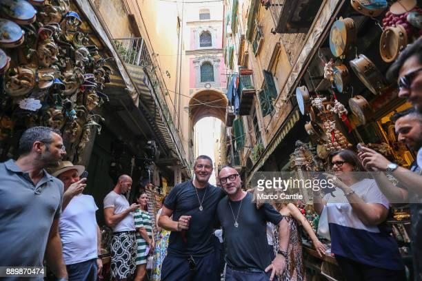 The Dolce Gabbana stylists walking around San Gregorio Armeno in Naples