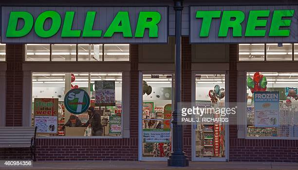 The Dollar Tree store is seen in Chantilly Virginia on January 2 2015 AFP Photo/PAUL J RICHARDS