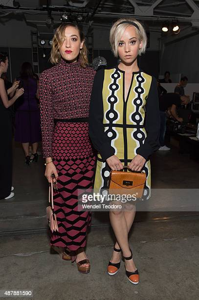 The Dolls Mia Moretti Margot attends the Giulietta show at Pier 59 Studios as part of Spring 2016 New York Fashion Week on September 11 2015 in New...