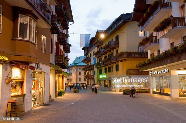The Dolomites - Main Street in Cortina D'Ampezzo