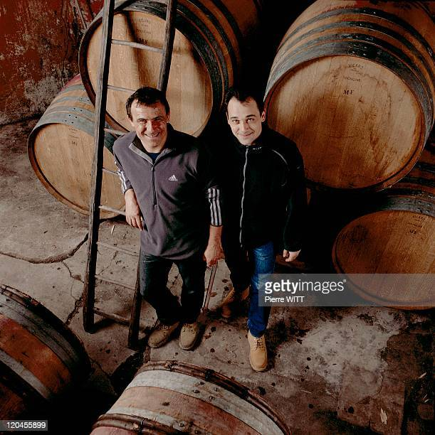 The Domain Of Durma Girls In Drome In Vinsobres, France In 2003 - The Filles Durma wine producing domaine, at the Cotes-du-Rhone vineyard in...