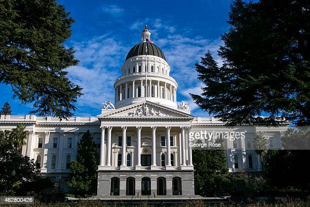 The dome and exterior of the State Capitol building is viewed on January 27 in Sacramento California Sacramento is the capital city of the State of...