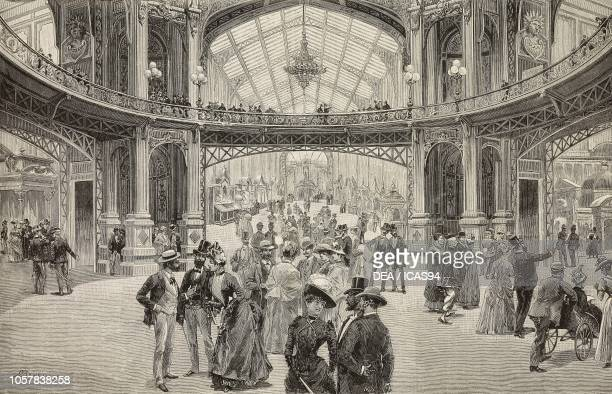 The Dome Central at the Universal Exposition of 1889 Paris France engraving from a drawing by A Bonamore and a sketch by Empedocle Ximenes from...