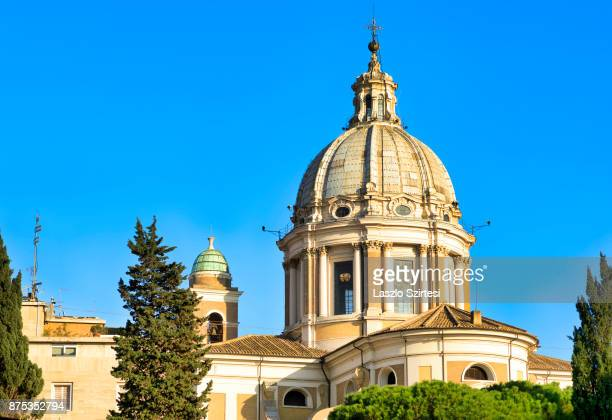 The dome of Basilica San Carlo al Corso is seen on November 1 2017 in Rome Italy Rome is one of the most popular tourist destinations in the World