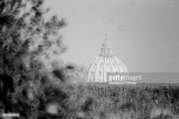 The dome of Saint Peter's Basilica Rome 1970