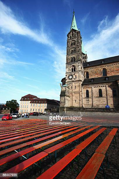 The dome of Sankt Peter and St Georg on June 11 2009 in Bamberg Germany Bamberg is listed as a World Heritage by UNESCO
