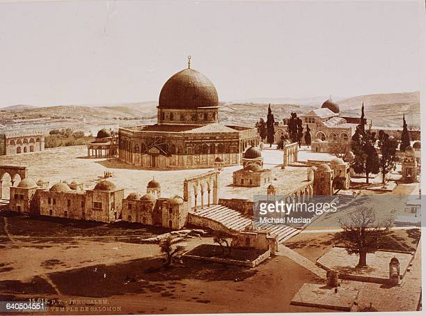 The Dome of the Rock a Muslim shrine occupies the former site of the First Temple built by Solomon the Second Temple and the Third Temple known as...