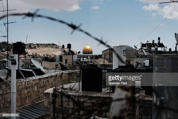 The Dome of the Rock at the AlAqsa mosque compound stands in the Old City on May 9 2018 in Jerusalem Israel In a controversial move the United States...