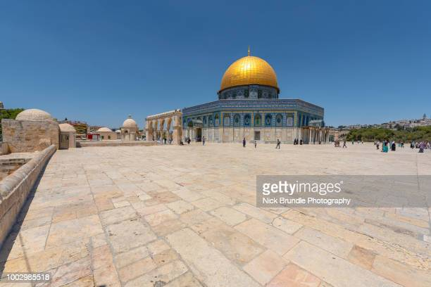 the dome of the rock, jerusalem, israel - monte del templo fotografías e imágenes de stock