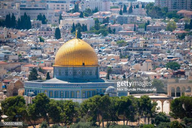 the dome of the rock, jerusalem, israel - al aqsa mosque stock pictures, royalty-free photos & images