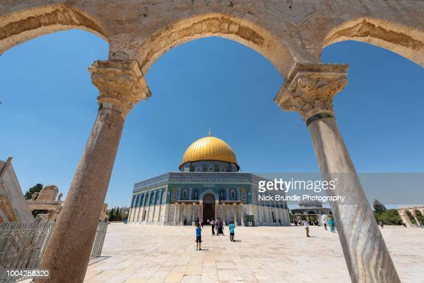 the dome of the rock, jerusalem, israel - ancient stock pictures, royalty-free photos & images