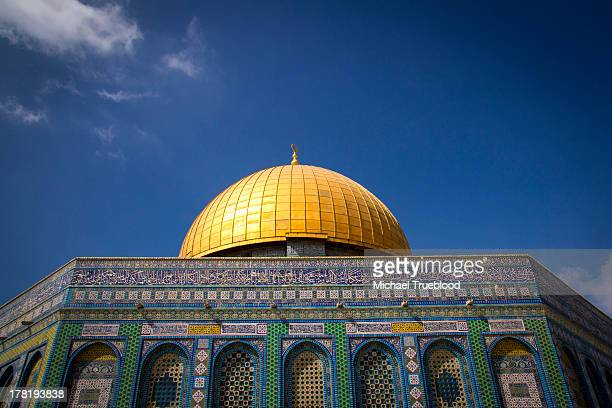 The Dome of the Rock on the Temple Mount in the Old City of Jerusalem. Some scholars believe this is the place where Muhammad ascended to Heaven with...