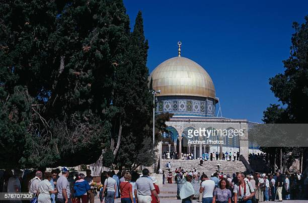 The Dome of the Rock on the Temple Mount in the Old City of Jerusalem 1980