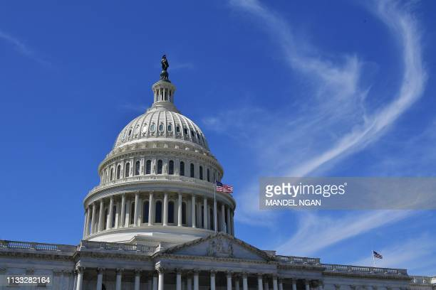 The dome of the US Capitol is seen in Washington DC on March 27 2019
