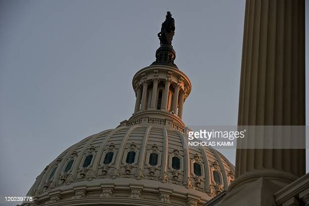 The dome of the US Capitol is seen in Washington on July 31 2011 AFP PHOTO/Nicholas KAMM