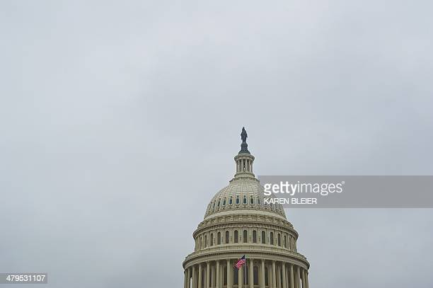 The dome of the US Capitol is seen March 19 2014 in Washington DC As work continues on the dome restoration the last chance for scaffoldfree views of...