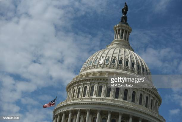 The dome of the US Capitol is seen on August 24 2017 in Washington DC / AFP PHOTO / MANDEL NGAN