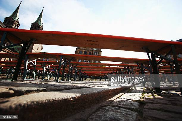 The dome Sankt Peter and St Georg on June 11 2009 in Bamberg Germany Bamberg is listed as a World Heritage by UNESCO