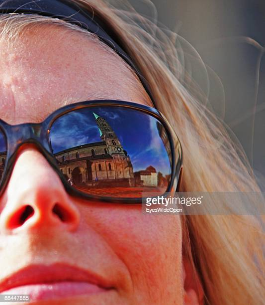 The dome Sankt Peter and St Georg seen through sunglasses on June 11 2009 in Bamberg Germany Bamberg is listed as a World Heritage by UNESCO