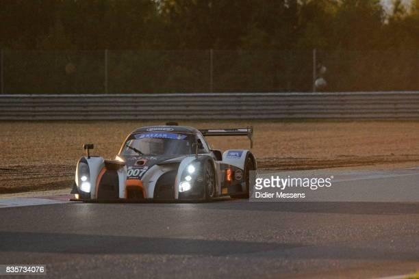 The DOMEC RXC of JeanMarc Bourdouch Yves Morel Alain Berg and Patrick Engelen drives in the evening during the Zolder 24 Hours race on August 19 2017...