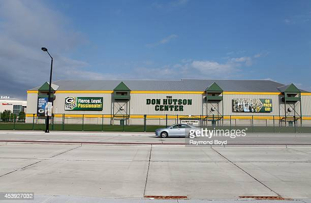 The Don Hutson Center indoor practice facility of the Green Bay Packers football team on August 16 2014 in Ashwaubenon Wisconsin
