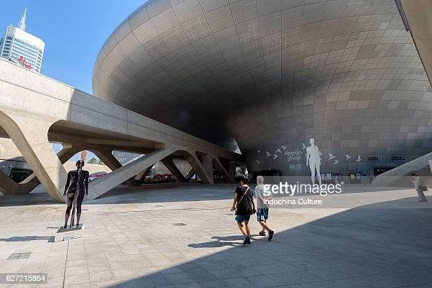 The Dongdaemun Design Plaza also called the DDP is a major urban development landmark in Seoul South Korea