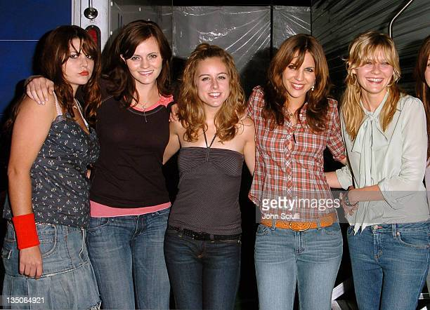 The Donnas and Kirsten Dunst during American Eagle Outfitters Rocks Los Angeles with a Back to School Tailgate Party - Inside at Hollywood Lot in...