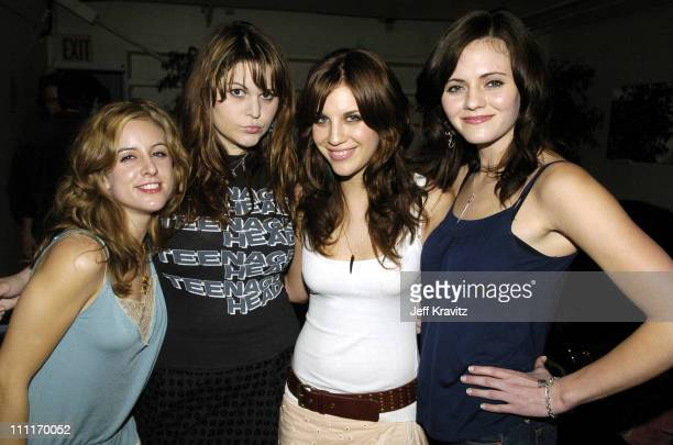 The Donnas during Spike TV's 2nd Annual Video Game Awards 2004 Backstage at Barker Hangar in Santa Monica California United States