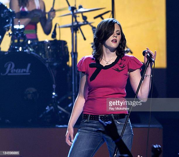 The Donnas peform 'Too Bad About Your Girl' during 2003 Teen Choice Awards Show at Universal Amphitheatre in Universal City California United States