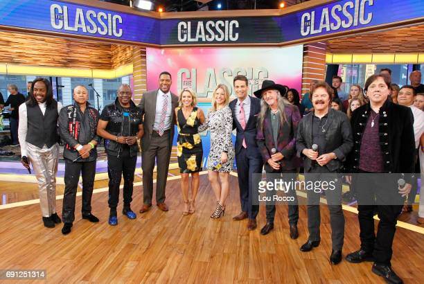 """The Doobie Brothers and Earth, Wind & Fire perform live on """"Good Morning America,"""" Thursday June 1, 2017 on the Walt Disney Television via Getty..."""
